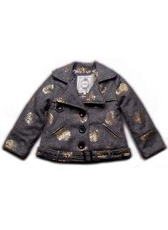 4f9ef639a NellyStella Riley Coat in Gray Polka Dot - Hello Alyss - Designer  Children's Fashion Boutique #