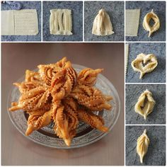 Practical pastry shapes 2 different shapes) - Sweet Pastries, Bread And Pastries, Algerian Recipes, Bread Shaping, Good Food, Yummy Food, Indian Snacks, Russian Recipes, Food Humor