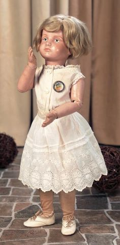 Private Collections: 83 Rare Early Model of American Wooden Doll,Model 401,by Schoenhut
