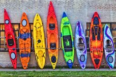 https://flic.kr/p/GYUCio | Make a Choice | Various colors and sizes of Kayaks for sale.