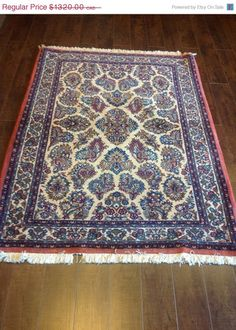 Item 2302,  Outstanding Persian Sarouk Rug, 4' x 5'