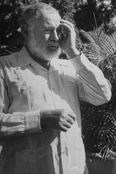 "Hemingway in ""Guayabera"" or safari shirt.  Papa wore it best...(I stole that quote)."