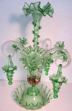 green epergne..my favorite vintage/antique