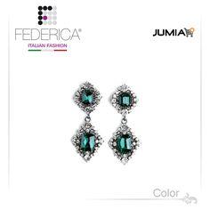 Earrings TOSCA 1 Pendant rhinestone and crystal earrings. Emerald. 2,300.00 Ksh http://www.federicafashion.com/ep175/earrings-tosca-1/ http://www.jumia.co.ke/federica-fashion/