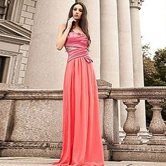 stunning coral gown I like the top