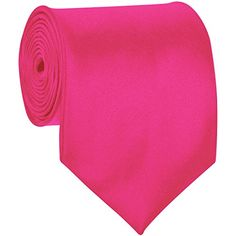 BRAND NEW Mens Necktie SOLID Satin Neck Tie Fuchsia 02