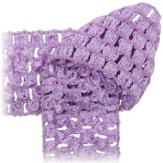 Crochet by the Yard - soft stretchy fabric, headbands- Lavender