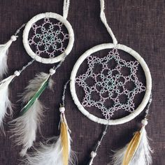 Nahele Dreamcatchers by Hye-oon Lee (Lovely Tatting)