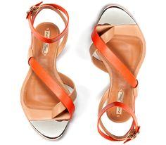 shoes- orange sandals, for those hot summer days