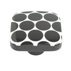 pomos tiradores cuadrado metacrilato negro con puntos blancos mueble comprar venta online 651ne