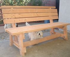 Simple Wooden Bench | garden bench seat built from a buildeazy plan
