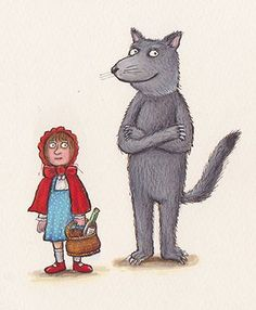 Five contemporary masters have returned to childhood, illustrating their favourite traditional characters – including Little Red Riding Hood, Puss in Boots and Goldilocks Fanart, Red Riding Hood Story, Kitty Crowther, Children's Book Illustration, Book Illustrations, Little Red, New Pictures, Childrens Books, Axel Scheffler