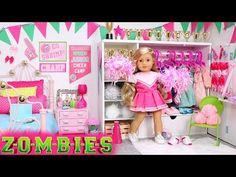 American Girl Dolls : Image : Description Doll Bedroom for Disney Zombies Addison Zombie Disney, Disney Diy, American Girl Doll Room, American Girl Crafts, American Girls, Zombie Birthday Parties, Zombie Party, Doll Crafts, Diy Doll