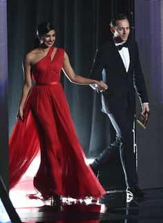 Tom and Priyanka at Emmy