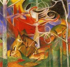Art portfolio of the (World) Munich, Germany-based artist Franz Marc. Franz Marc was a German painter and printmaker, one of the key figures of the Franz Marc, Wassily Kandinsky, Wildlife Paintings, Animal Paintings, Oil Paintings, Blue Rider, Art Sur Toile, Expressionist Artists, Oil Painting Reproductions