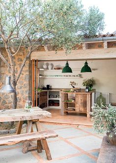 modern rustic interiors This home on the island of Mallorca (Spain) has been designed by Spanish architectural firm Moredesign. Building the rustic stone house was a process ove Design Hotel, Villa Design, Terrace Design, Design Shop, Garden Design, Rustic Chic, Rustic Decor, Modern Rustic, Rustic Outdoor