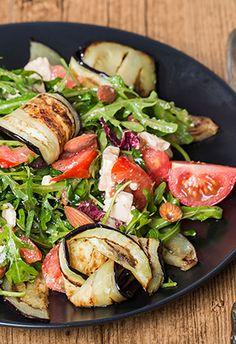 Ensalada sabrosa: Berenjena con Tomate #comersano #receta #berenjena