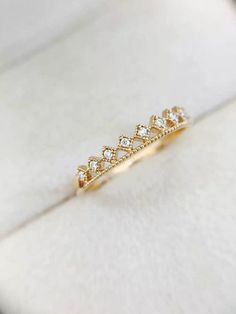 Diamond Milgrain Details Crown Wedding Band Engagement Ring | Leaf | Branch