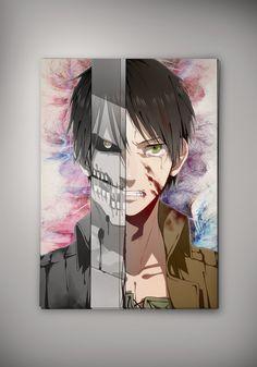 Attack On Titan Eren Anime Poster Otaku Manga Print Gift Fan Art n52