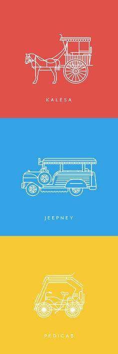 on Behance Modes of Transportation in PHL. Line Design, Icon Design, Design Art, Web Design, Graphic Design Projects, Graphic Design Typography, Graphic Design Inspiration, Simple Illustration, Graphic Design Illustration