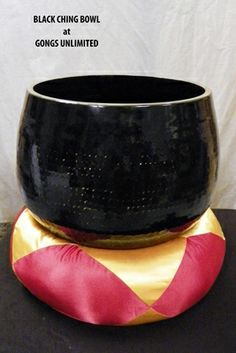 """12"""" Black Ching Bowl - Rin Gong - SOLD OUT"""