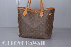 Louis Vuitton Monogram Neverfull MM Tote Shoulder Bag M40156