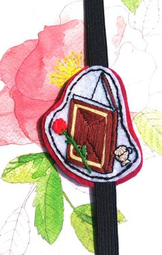 Belle Beauty and the Best inspired embroidery Bookmark