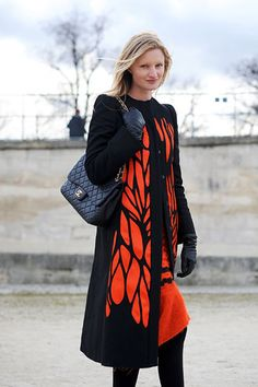 Candice Lake's stunning red and black coat