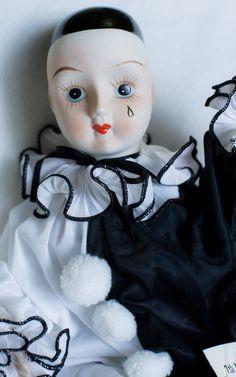 Vintage 1980s Pagliacci Pierrot Porcelain by toysandtutusbyjojo