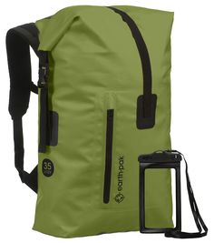 14ec71a580 Earth Pak Waterproof Backpack  35L 55L Heavy Duty RollTop Closure with Easy  Access FrontZippered