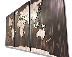 180 Best Wooden World Maps images | Wooden map, Wood wall ...