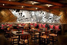 Commercial Interior Design, Commercial Interiors, Sapporo, Wabi Sabi, Aspen, Decoration, Art Decor, Home Decor, Graffiti Restaurant