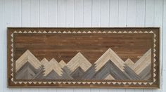 Reclaimed Wood Wall Art  Large Mountain Art King by PastReclaimed