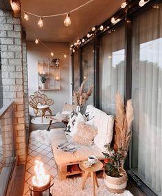 Small Balcony Design, Small Balcony Decor, Balcony Decoration, Apartment Balcony Decorating, Apartment Living, Apartment Hacks, Cozy Apartment Decor, Apartment Balconies, Balkon Design