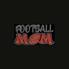 Football Mom 5.5x9.5 Football Rhinestone & Glitter by BlingByBates