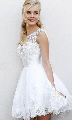 I like this one short and sexy!2014 New romantic organza mini beach crystal short sexy Bridal Wedding Dresses