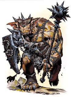 Bugbear: a large goblinoid monster from the D&D (Dungeons and Dragons) Monster Manual.