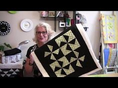 A two hour quick and easy dimensional pinwheel table top quilt - YouTube