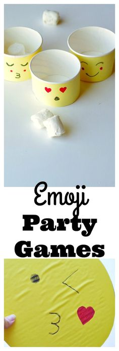 Easy DIY Emoji Party games. So many fun ideas to have an awesome emoji party!