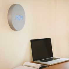 PRODUCTS :: LIVING AND DESIGN :: Accessories, Decorations :: Clocks :: Clocks on wall :: Wall Click Clock - Aluminium with Blue LED