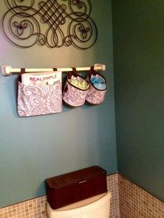 Our Oh Snap Pockets and Bins are perfect for bathroom organization!