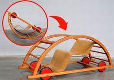 A empresa MidMod Design disponibilizou em seu catálogo o Schaukelwagen, um carrinho de madeira para crianças que, ao ser virado de ponta cabeças, se transforma em uma cadeira de balanço. A ideia simples veio dos designers alemães Hans Brockhage e Erwin Andra ainda na década de 1950. A MidMod ressucitou o antigo desenho e voltou a colocar o conceito em produção.