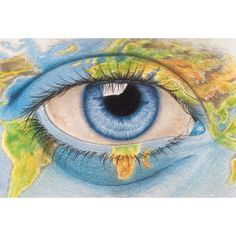 Scale ( Medium: FaberCastell on Fabriano white ecological paper 94 lbs *Any framed pictures are for example only. Easy Eye Drawing, Realistic Eye Drawing, Wall Drawing, Love Drawings, Colorful Drawings, Easy Drawings, Pencil Drawings, Sketching Tips, Eye Painting