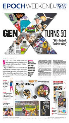 Gen X Turns 50 — 'We're doing well, thanks for asking'|Epoch Times #FeelGood #newspaper #editorialdesign