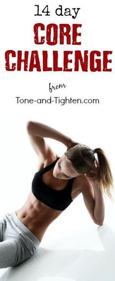 14 Days of ab workouts to tone and tighten your stomach - From Tone-and-Tighten.com by anastasia