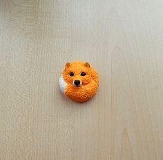 Fox brooch Cute fox badge Animal brooch jewelry от ViaLatteaArt