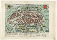 Het beleg van Haarlem, 1572-1573, Antonio Lafreri, Giovanni Orlandi, 1573 Holland Netherlands, Map Globe, Old Maps, Historical Maps, 16th Century, Vintage Photographs, Renaissance, Bohemian Rug, City Photo