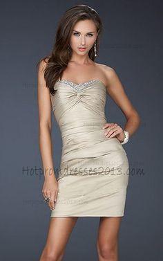 Champagne Short Strapless Prom Dresses 2013 http://www.hotpromdresses2013.com