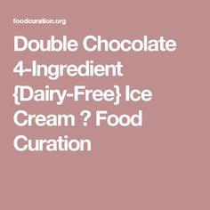 Double Chocolate 4-Ingredient {Dairy-Free} Ice Cream ⋆ Food Curation