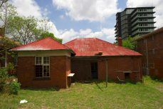 Neglected back yard. Pretoria, Hostel, Abandoned, 1960s, Shed, Backyard, Outdoor Structures, Street, Left Out